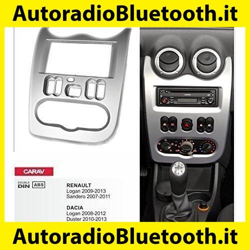 Mascherina autoradio 2 DIN kit montaggio con staffe ABS